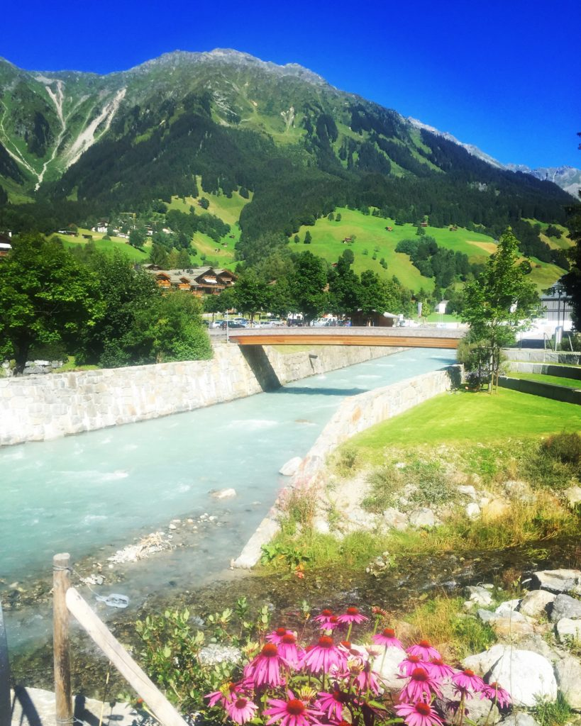 The famous ski resort of Klosters, seen without its winter coat.