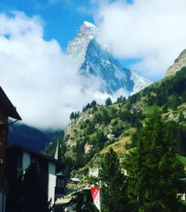 The instantly recognisable and iconic symbol of rural Switzerland - The Matterhorn