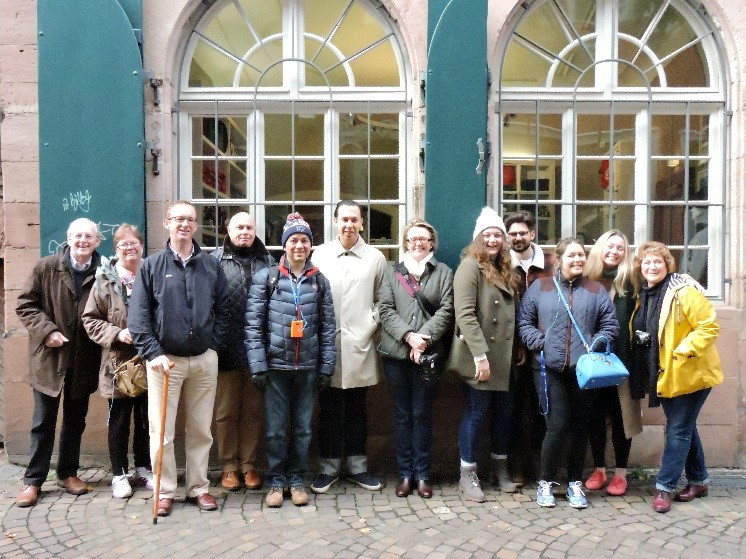 Our journalist guests stopping for a tour in Koblenz