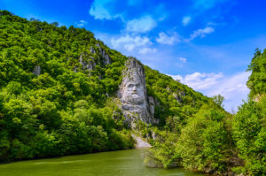 Decebalus on the Danube statue, Romania
