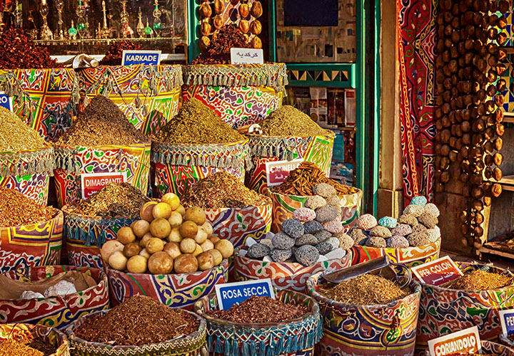 Aswan market stall, Egypt, Nile