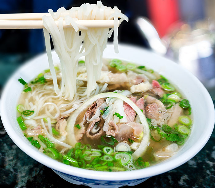 Bowl of pho bo