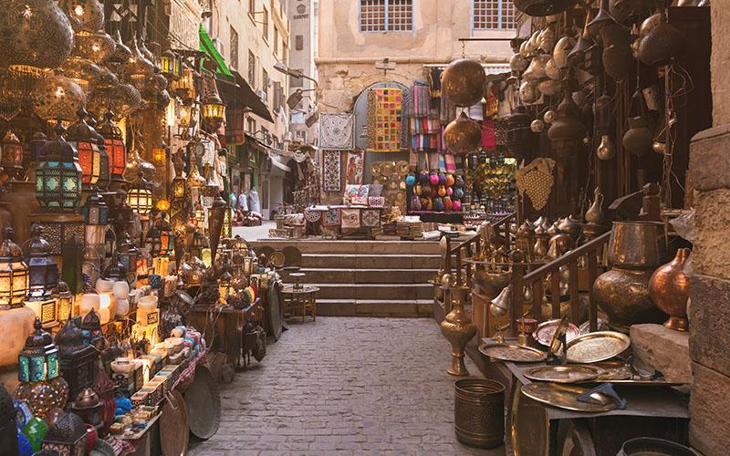 Typical Egyptian Bazaar