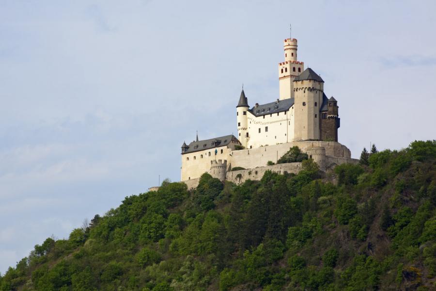 medieval castle Marksburg at Braubach