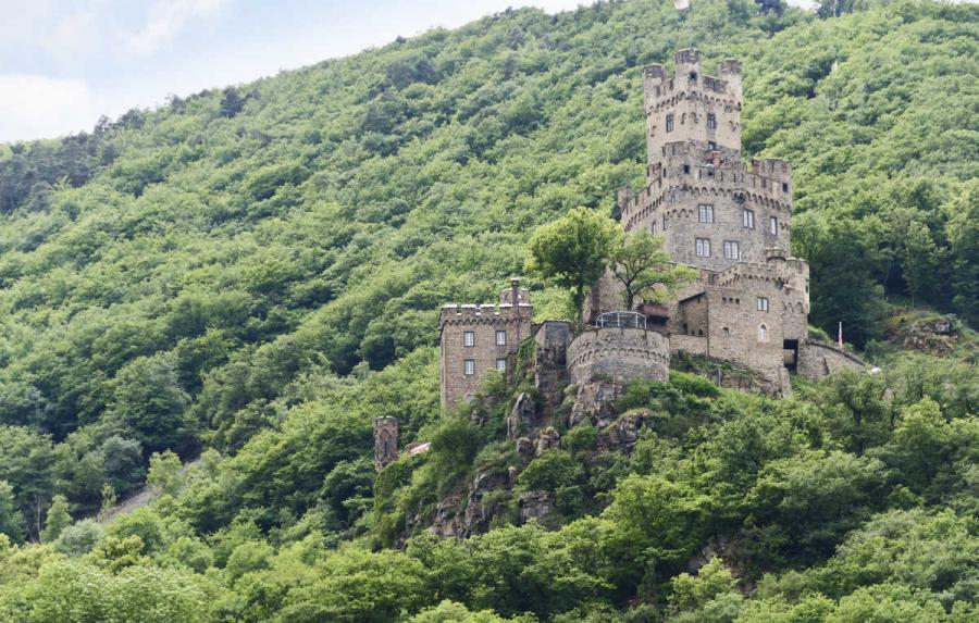 Reichenstein Castle on the Rhine River, Germany