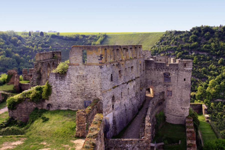 Rheinfels castle on the Rhine river
