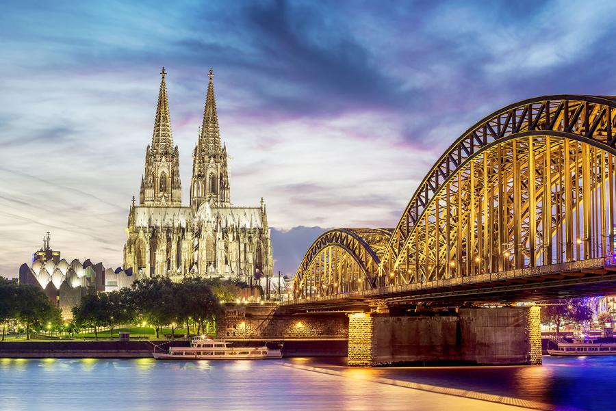 Rhine or Danube River Cruise – Which to Choose? Cologne Cathedral at sunset