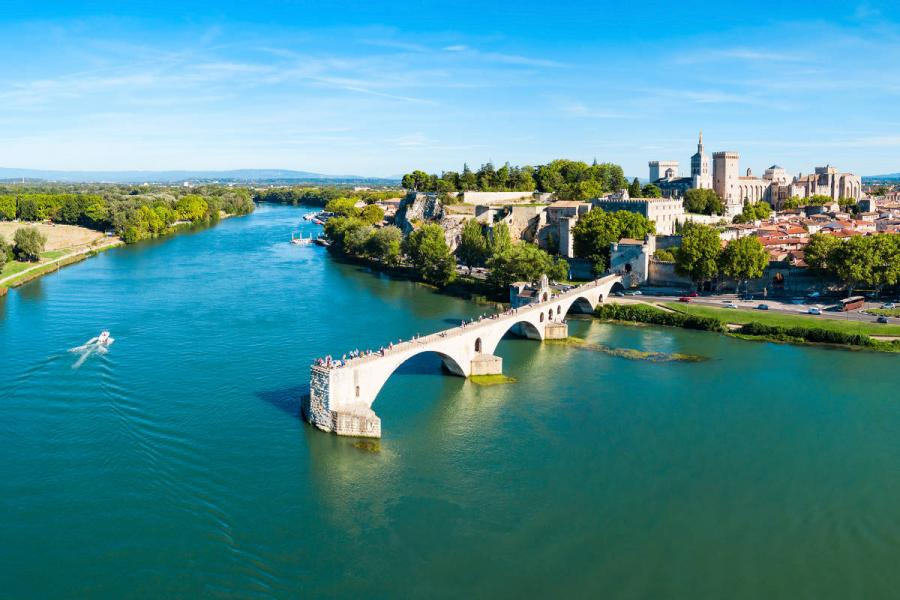 Avignon on the Rhone