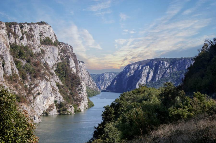 River Cruises in Europe Danube near the Iron Gates Gorge