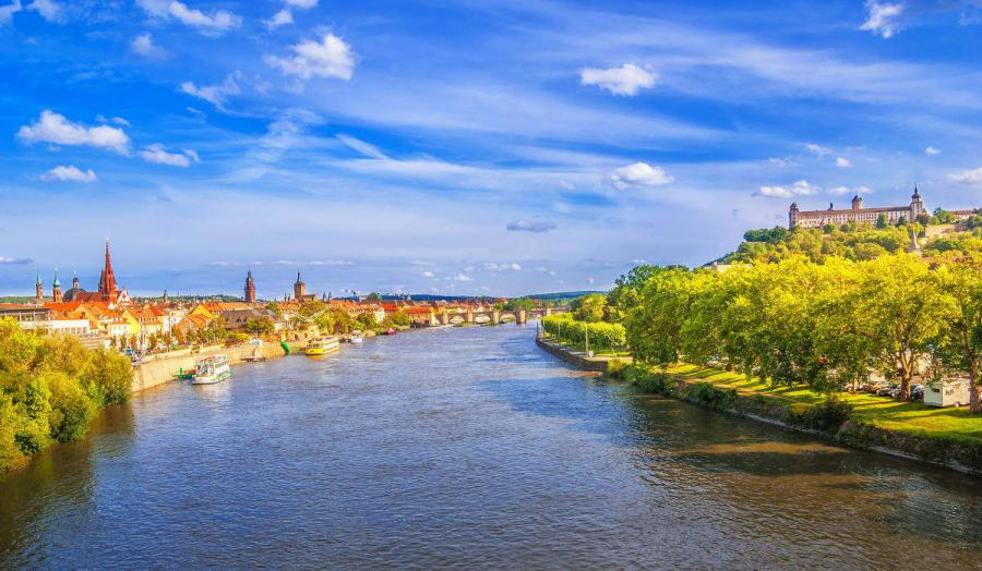 Rivers in Europe Wurzburg on the Main