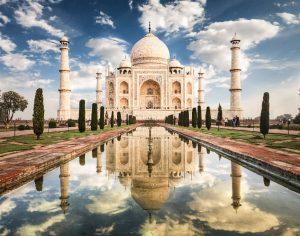 Taj Mahal in morning light. Located in Agra, India.