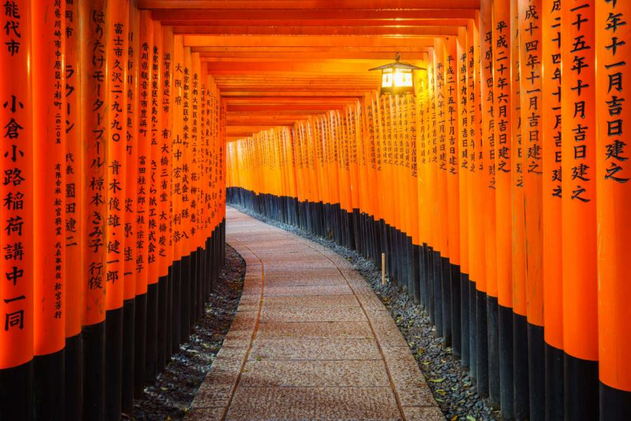 visit japan torii gates fushimi inari shrine kyoto japan