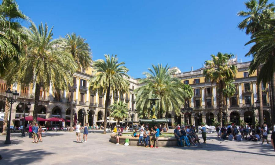 best european cities to visit plaza real barcelona