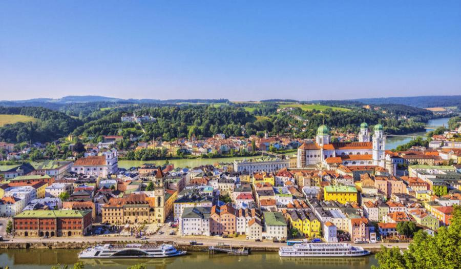 best european cities to visit elevated view on passau