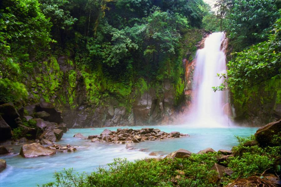 costa rica tours waterfall tropical rainforest Costa Rica