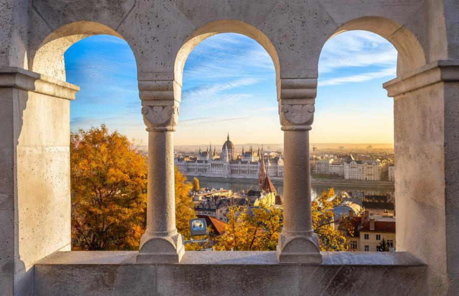 danube river cruises view from fishermans bastion budapest