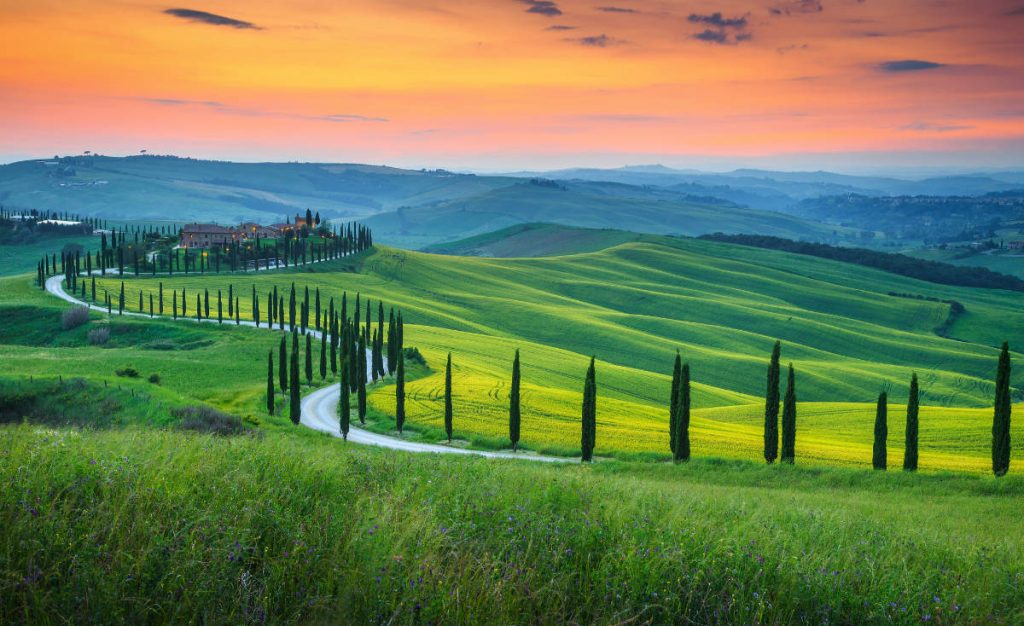 Europe bucket list Tuscan landscape