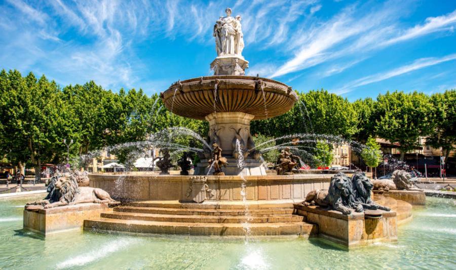 Provence Aix en Provence fountain