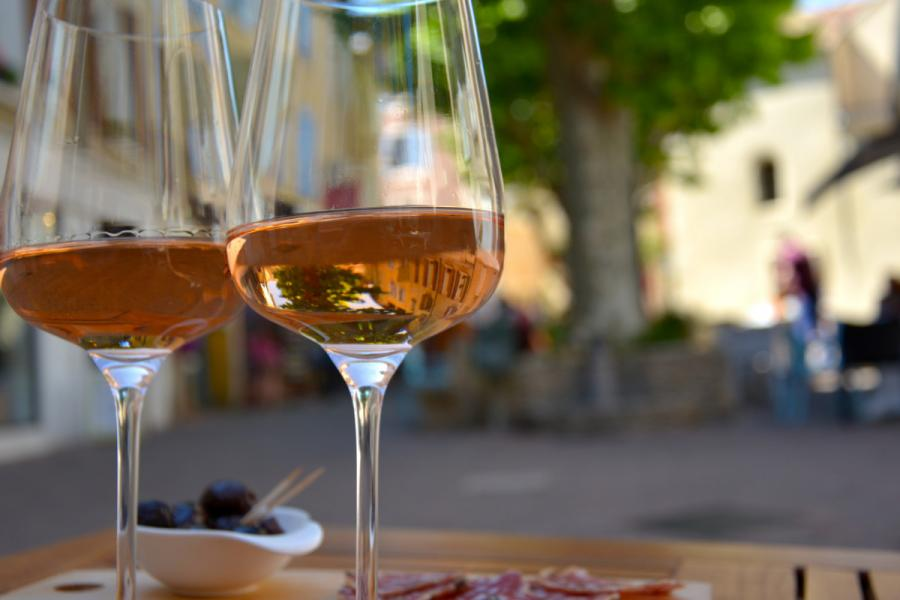 Provence glass of rose wine