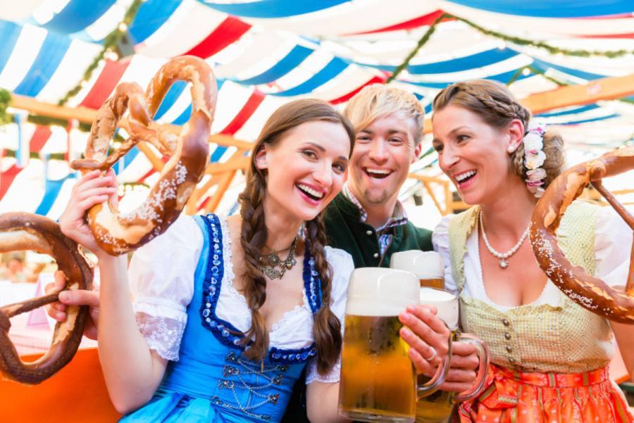 beer festival bavarian beer tent