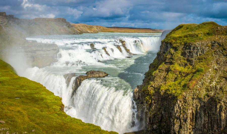 famous waterfalls gullfoss waterfall iceland
