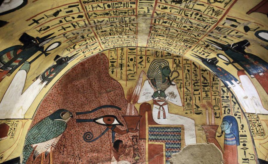 nile cruise wall painting