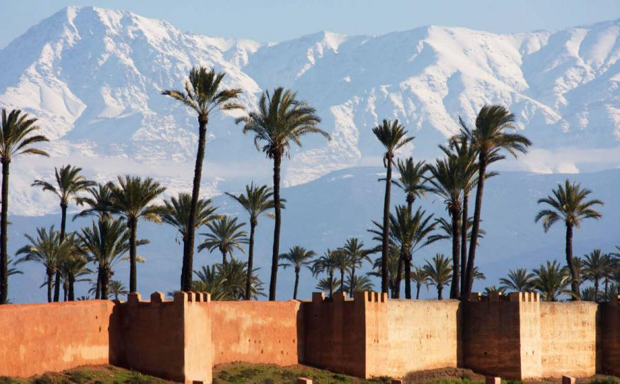 marrakesh ramparts atlas mountains