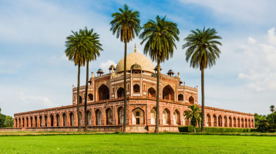 Golden Triangle Tours India | Humayan's Tomb with Palm Trees