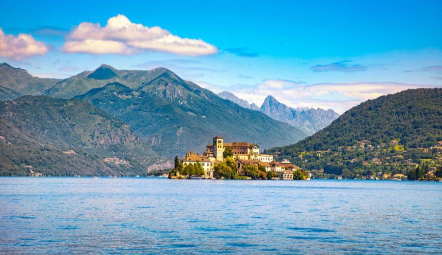 italian lakes Orta Lake landscape