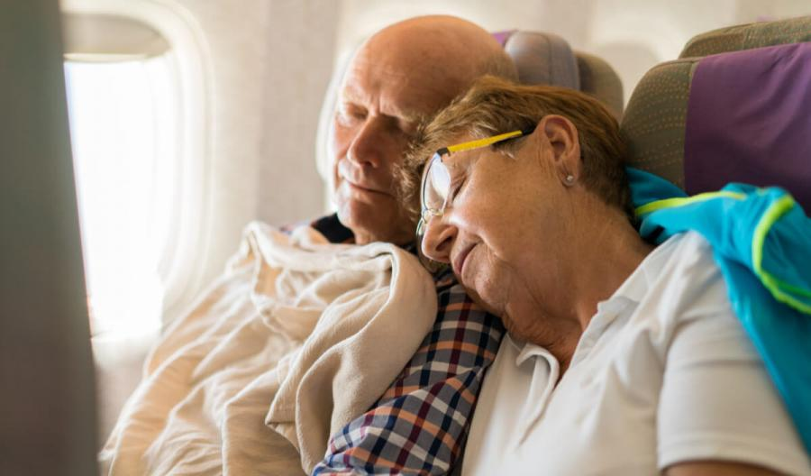 long haul flight tips sleeping on plane