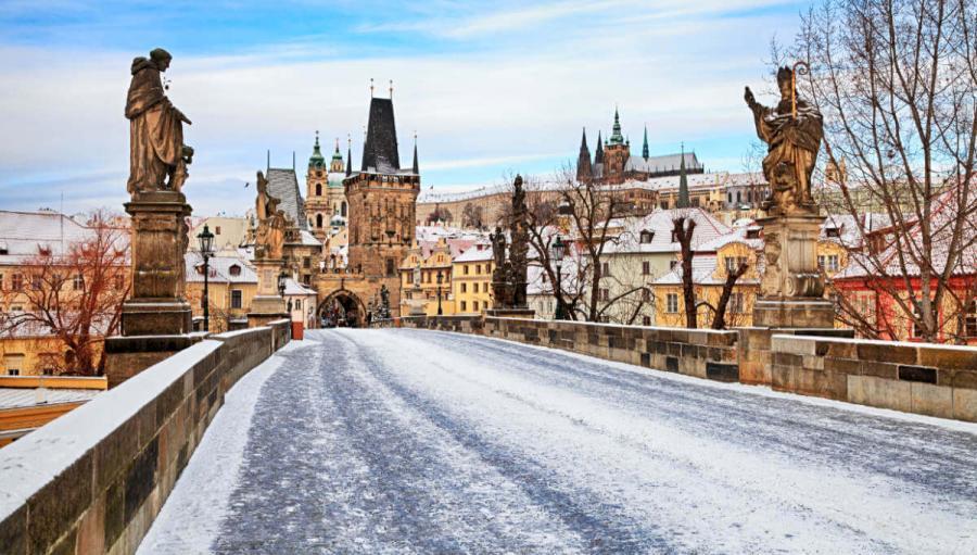 Best European cities to visit in winter Charles Bridge Prague