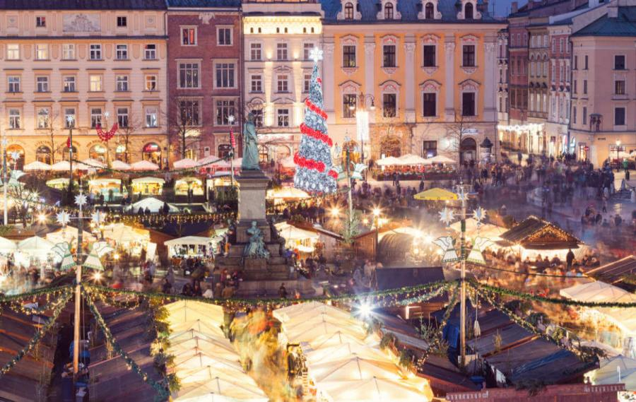 Best European cities to visit in winter Krakow Christmas Market Poland