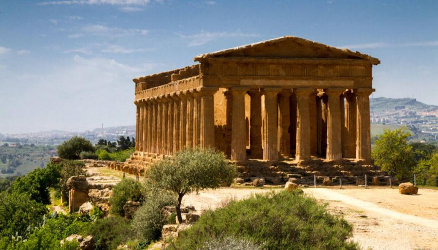 escorted sicily tours ancient greek temple concordia sicily