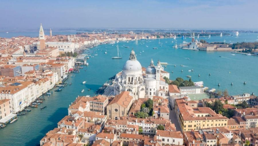 things to do in venice lagoon aerial view