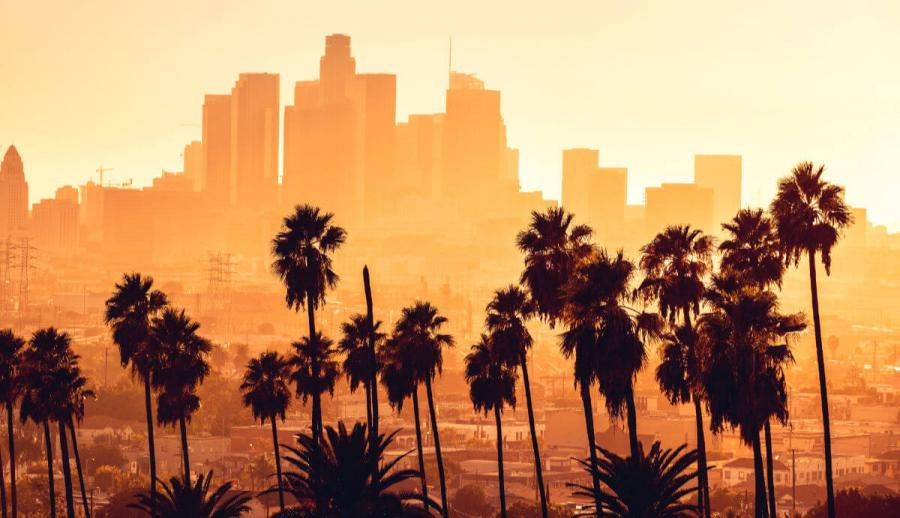 visit california los angeles golden hour