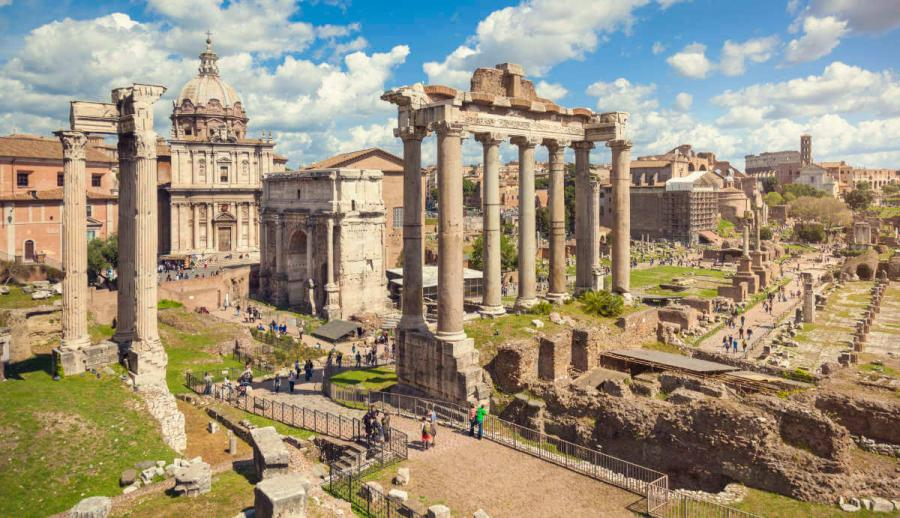 international etiquette food roman monuments