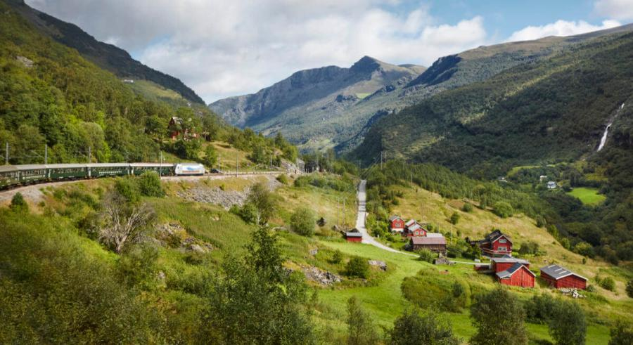 norwegian fjords cruise flam railway landscape