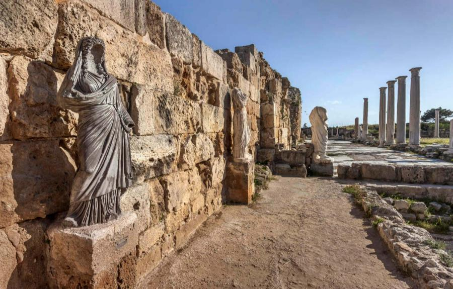 roman ruins salamis gymnasium
