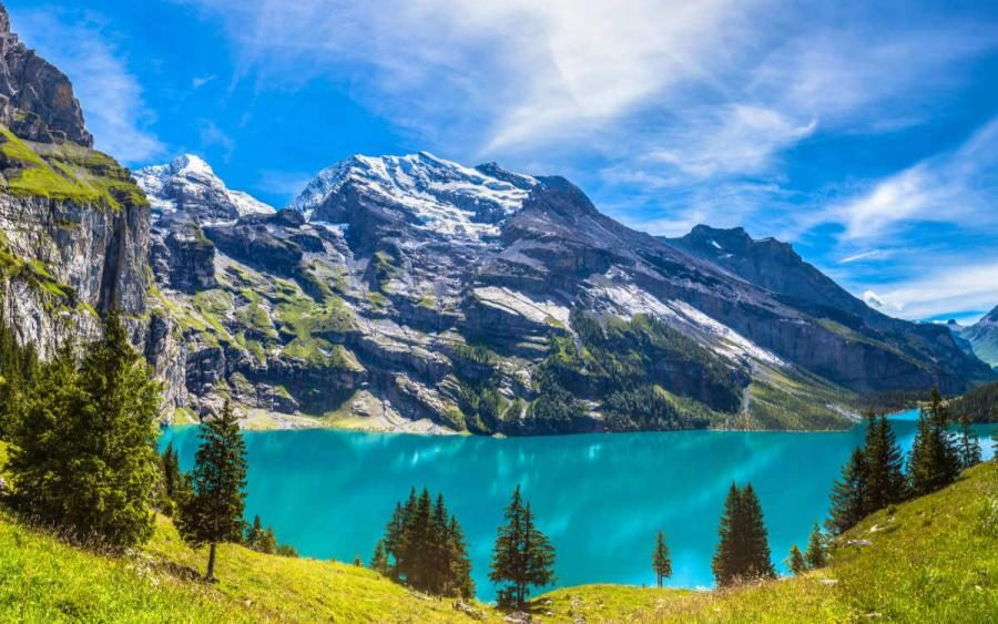 best places to visit in switzerland lake oeschinen