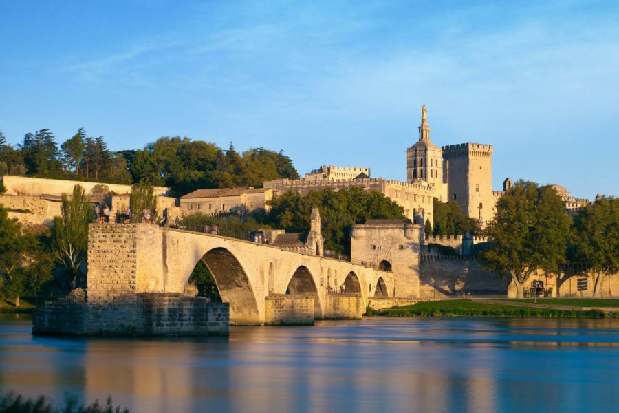 summer cities avignon bridge provence