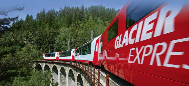 Switzerland - Railroad in the Alps on the Swiss Glacier Express | Riviera Travel