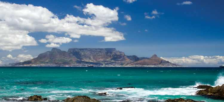 Gaze at magnificent Table Mountain in Cape Town on our escorted tour