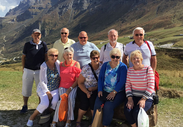 Group of clients at the Dolomites Italy