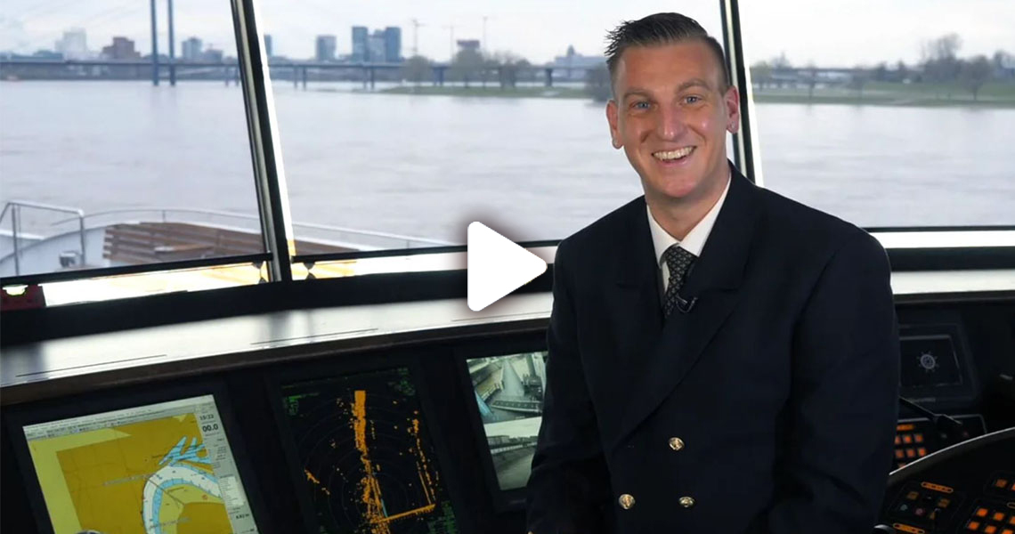Captain Gabor on the MS Emily Bronte cruise ship