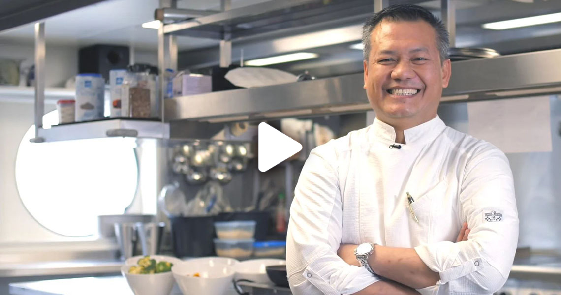 Suhendro, Executive Chef on Riviera Travel ships