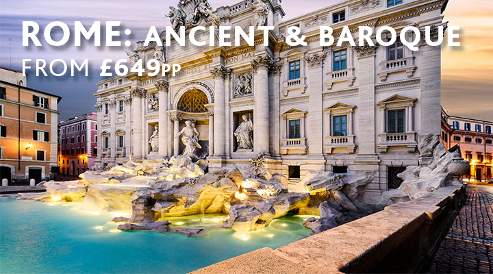 Trevi Fountain in Rome city break from £649pp