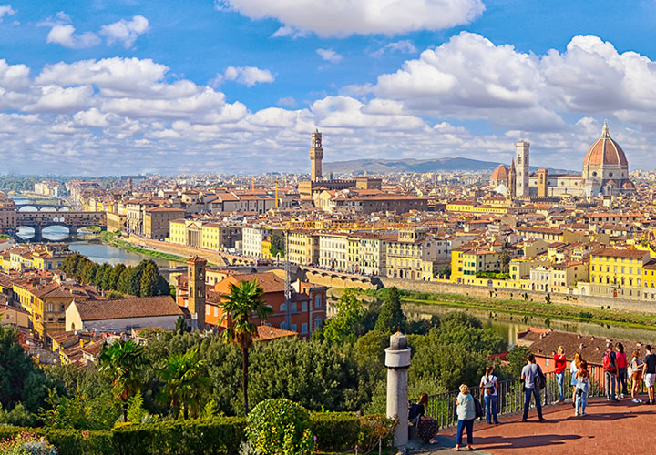 Florence city from Michelangelo Piazza viewpoint