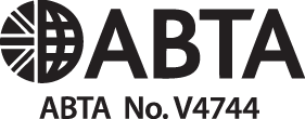 Black and white ABTA logo and number V4744