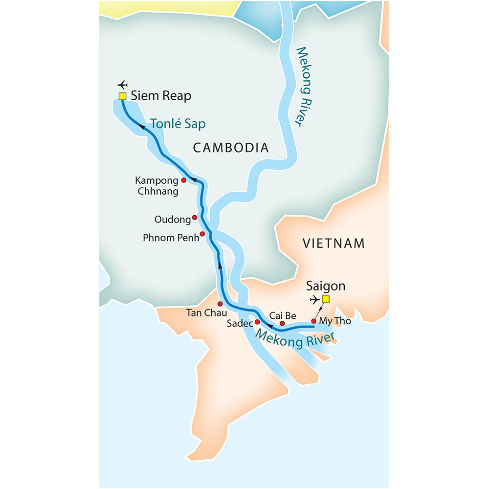 A Journey on the Mekong route map