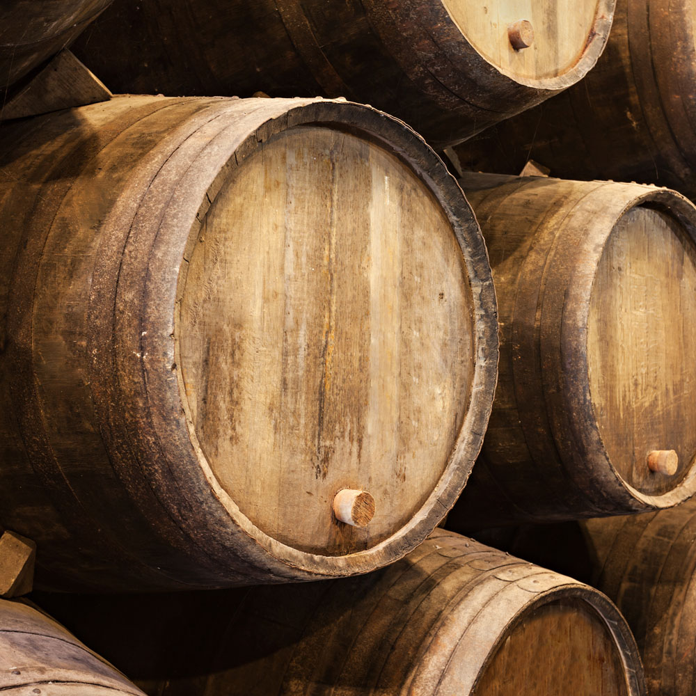 Wine barrels in Porto